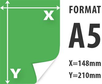 ulotki A5 wymiar 148x210mm